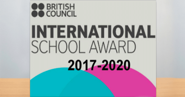 International School Award by British Council 2017-20