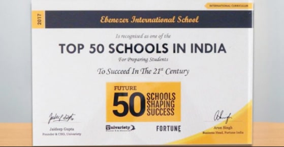 Top 50 Schools in India 2017 (International Curriculum)