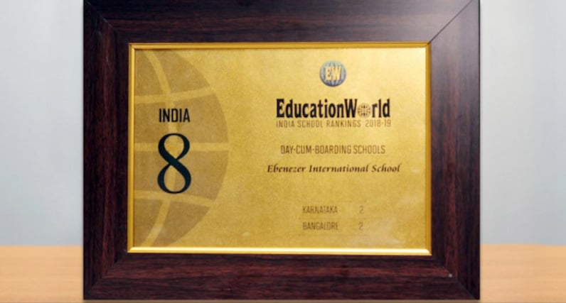 8th Rank among Day cum Boarding school in India 2018-19