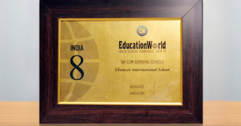 Ranked 2nd in Bangalore among Day cum Boarding schools