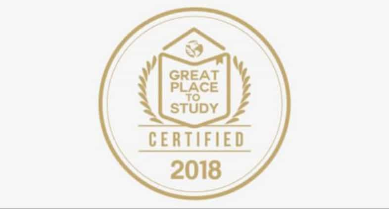 Recognised as a Great place to study 2018